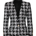Balmain Crystal Houndstooth Jacket