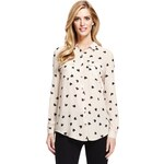 Marks and Spencer M&S Collection No Peep™ Twin Pockets Heart Print Blouse