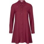 Topshop **Lace Insert Shirt Dress by Glamorous