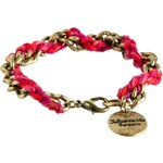 Classics 77 Pink Chain Plait Friendship Bracelet - Pink