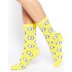 Lazy Oaf Peep Toe Tube Socks in Yellow