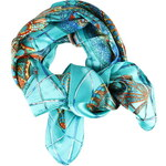Saténový šátek s potiskem
