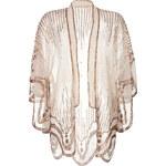 Anna Sui Sequin Embroidered Scalloped Kimono