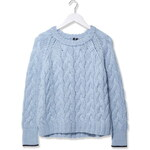 Topshop Chunky Cable Hand Knit Jumper by Boutique