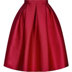 Topshop Satin Prom Midi Skirt