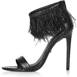 Topshop RAVENOUS Feather Sandals
