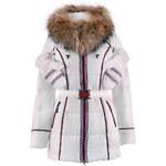 Péřová bunda s kožešinou bílá Veralba