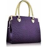 LS Fashion Luxusní kabelka do ruky LS0054A fialová