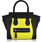 LS Fashion Žluto-černá kabelka ve stylu Celine LS00143B žlutá