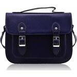LS Fashion Tmavě-modrý messenger s přezkami LS00263 tmavě-modrá