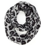 Marks and Spencer M&S Collection Leopard Print Snood Knitted Scarf with Angora