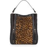 Marks and Spencer Autograph Leather Animal Print Zip Hobo Bag