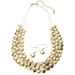 Marks and Spencer M&S Collection Gold Plated Slinky Circles Necklace & Earrings Set