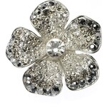 Marks and Spencer M&S Collection Pave Diamanté Floral Brooch
