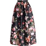 CHICWISH Dámská sukně Maxi Midnight Garden Velikost: S