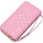 NUCELLE dámská kožená peněženka růžová