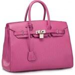 NUCELLE kožená kabelka Platinum Birki růžová