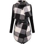 SHEIN Dámský kabátek Chic černobílý Velikost: L