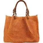Alice & D kožená kabelka do ruky Belloza Gialla Arancione