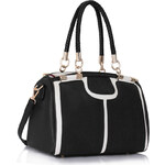 LS fashion LS dámská kabelka 278 černo-bílá