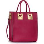 LS fashion LS velká dámská kabelka 277A fuchsiově růžová