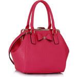 LS fashion LS dámská kabelka mašle 258 růžová