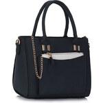 LS fashion LS dámská kabelka s kapsou 313 tmavě modrá