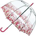 Průhledný deštník fulton BIRDCAGE-2 - FLORAL