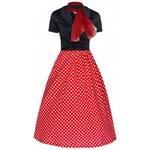 Lindy Bop retro dámské šaty ELSA červené s puntíky velikosti: 38