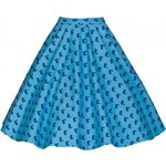 Lindy Bop LindyBop Retro sukně Peggy BLUE SWAN velikosti: 36 (UK8)