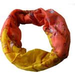My Butterfly Šála - žluto - oranžový tunel s mořskými motivy