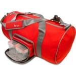 Fitmark stylová termo taška na jídlo a cvíčení duffel v červené barvě