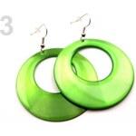 Náušnice plastové Ø50mm hladké (1 pár) - 3 zelená jablková Stoklasa