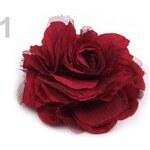 Brož Ø 90mm růže (1 ks) - 1 červená jahoda Stoklasa