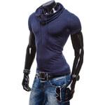 Hoody Pánské tričko - modrá Velikost: XXL