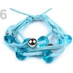 Náramek s plastovými korálky (1 ks) - 6 modrá azuro Stoklasa