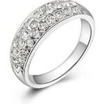 Roxi Masivní elegantní dámský prsten s řadou krystalů Velikost: 57