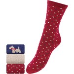 Marks and Spencer 3 Pairs of Freshfeet™ Cotton Rich Scotty Dog Socks with Silver Technology