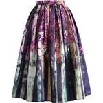 Chicwish midi sukně Mystický les