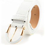 Rihan Women's Fashion White Casual Leather Belt 69