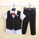 LightInTheBox Four Pieces Short Sleeve Ring Bearer Suit Clothing Set(More Colors)