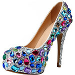 LightInTheBox Patent Leather Women's Wedding Stiletto Heel Pumps Heels Shoes With Rhinestone