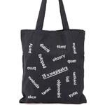 """DOBRO """"Dobrá"""" černá unisex taška pro Mezipatra"""