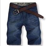 LightInTheBox Men's Summer Casual Straight Denim Shorts(Belt Not Included)
