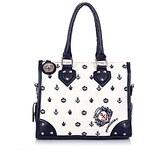 LightInTheBox MIS STYLE Black-White Vintage Tote Bag 301224cm