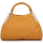 Annibelle Women's Yellow Pu Leather Tote 311019