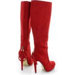 Červené kozačky Elvana EUR40