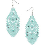 Topshop Green Crochet Lace Earrings