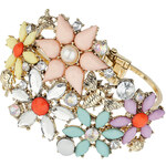 Topshop Flower And Insect Stone Bracelet