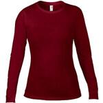 Tričko Fashion s dlouhým rukávem - Vínově červená M